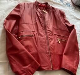 Jaqueta de couro legítimo. 2x picpay