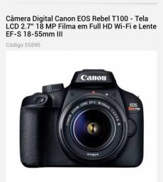 Câmera Fotográfica Canon T100