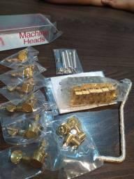 Ponte 2 pivô e tarraxas com trava Gotoh Gold