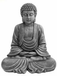 Buda em Cimento com Pintura envelhecida