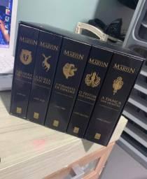 Box livros game of thrones - edição de colecionador de luxo