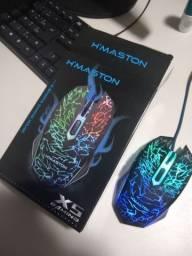Mouse Gamer Hmaston X5 - Cabo Trançado