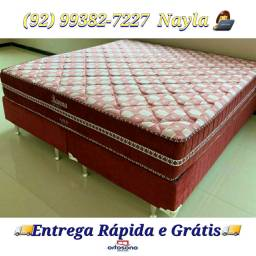 Cama Super king Ravena molas enscadas