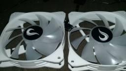 Controladora , com controle para 3 ou 4 pinos e 2 fans rise argb.