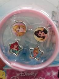 Kit Pulseira com Pingentes Princesas Disney