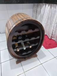 Mini bar rústico de madeira