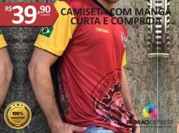 Camisas personalizadas com manga longa e curta em sublimação total