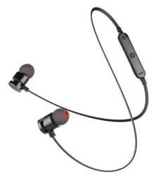 Fone de Ouvido Bluetooth Microfone Kaidi Kd901, Com Ímã, 4 Horas de Musica, Preto - Novo