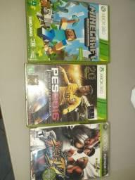 Xbox com 1 controle 3 jogos, console com defeito