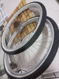 Título do anúncio: Par de rodas 26x1.75 RIGIDA, cubos shimano EXAGE