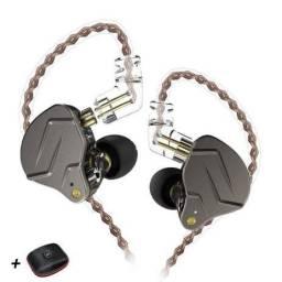 Fone de ouvido in-ear KZ ZSN PRO (também tenho Pro x dourado) + case + Pronta entrega