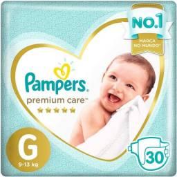 Fraldas Pampers Premium Care G