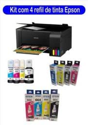 Tinta Epson Original  kit ecotank 4 cores