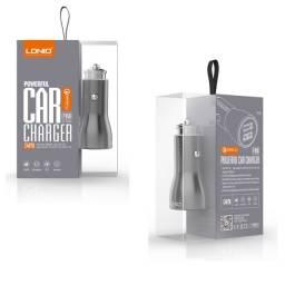 Carregador Veicular Usb Turbo Qualcomm 3.0 Cabo Android V8