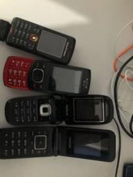 4 celulares antigos
