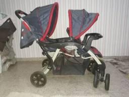 Carrinho De Bebê Para Gêmeos Doppio -Galzerano