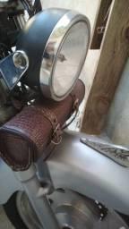 Kit alforjes para motos - em couro puro
