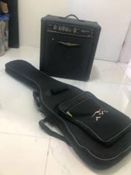 Baixo Tagima + caixa + bag +correia