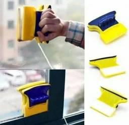 Limpa Vidros Magnético Rodo Mágico Duplo