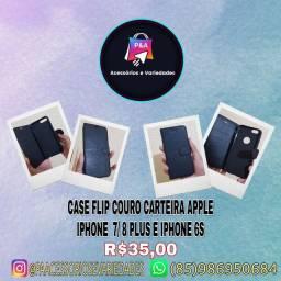 Capa Flip Couro Carteira Apple iPhone  7/ 8 plus e iPhone 6s