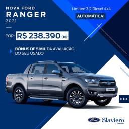 Nova Ford Ranger Limited 3.2 4x4 AT - 2021 - 0KM - Polyanne *