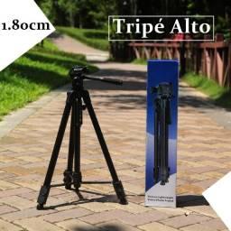 Tripé de 1.80cm, suporta câmeras e celulares, entregamos