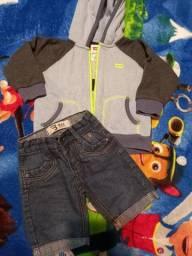 Casaco levis original 18 meses e bermuda jeans - lote3
