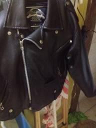 Casaco de couro tamanho M