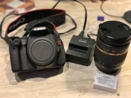 Canon EOS Rebel T3i e lente Tamron SP 17-50mm f/2.8