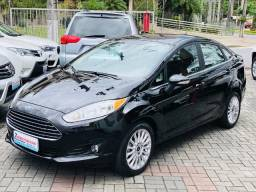 Ford Fiesta Sedan Titanium automático 2016 + kit multimidia original de fabrica - 2016