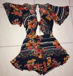 Macaquinho Estampado Dress To