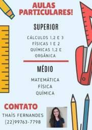 Aulas Particulares (Física, Química e Cálculo/Matemática)