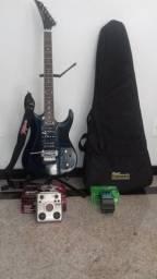 Guitarra Memphis Tagima + Pedaleiras + Acessórios (favor, ler a descrição)