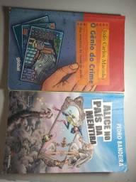 5 livros em ótimo estado