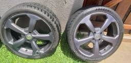 Rodas 18 usadas e pneu meia vida