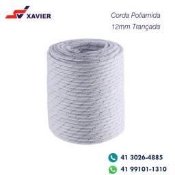 Corda Poliamida NR18 Trava-queda 12mm Trançada Plasmódia - 50m