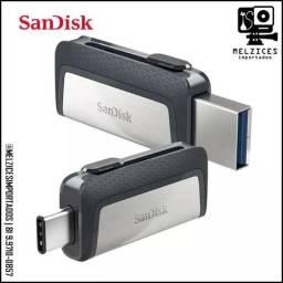 Pendrive 32GB Dual Usb C ( Celular | Computador | TV e etc )