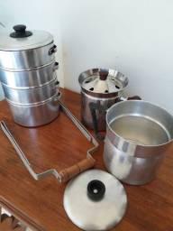 marmiteira de aluminio, leiteiras