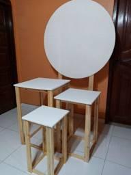 Kit Painel mesas cubos palete