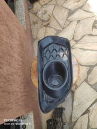 Grade Moldura Farol De Milha Renault Sandero 15 16 17 18 19