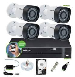 Kit CFTV 4 câmeras Intelbras - Instalado