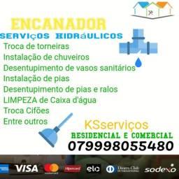 Encanador serviços hidráulicos