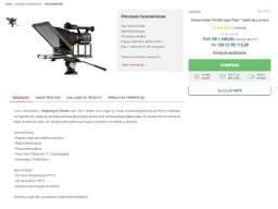 TP Teleprompter Portátil para iPad / Tablet da Lumipro Filmagem