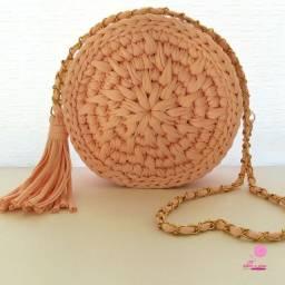 Bag de Crochê na cor Rosa  Claro