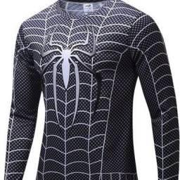 Camiseta Homem Aranha Manga Longa