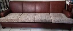 Jogo de sofá e poltronas vintage restaurados