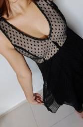 Vestido Preto Rendado - Tamanho M