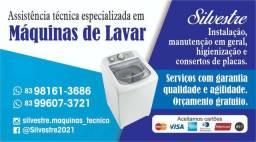 Assistência técnica especializada em máquinas de lavar.