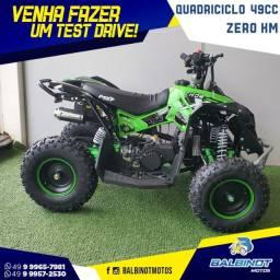 Título do anúncio: Quadricíclo 49cc Zero km Verde