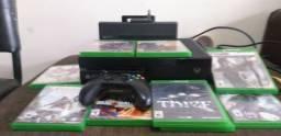 Vídeo game Xbox mais assessórios